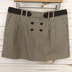 BCBGMaxAzira Brown/Tan striped skirt, size 6